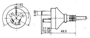 <a href='http://www.fonida.com' target='_blank'><a href='http://www.fonida.com' target='_blank'>电源适配器</a></a>插头图纸
