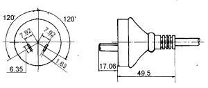 <a href='http://www.fonida.com' target='_blank'><a href='http://www.fonida.com' target='_blank'>电源适配器</a></a>插头