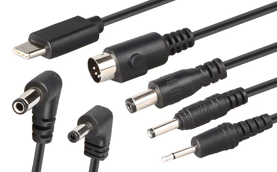 电源适配器音叉和直插dc插头常见规格