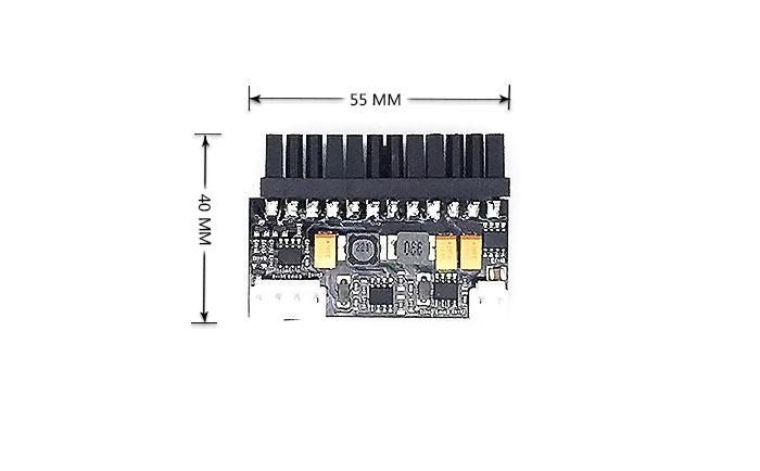 12v输入150w 直插式dc-atx电源板 itx直插电源模块